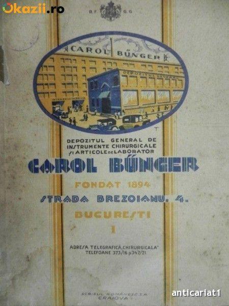 CAROL BUNGER- DEPOZITUL GENERAL DE INSTRUMENTE CHIRURGICALE SI ARTICOLE DE LABORATOR foto mare
