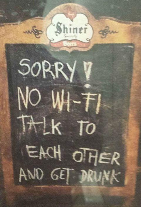 Sorry, no Wi-Fi...