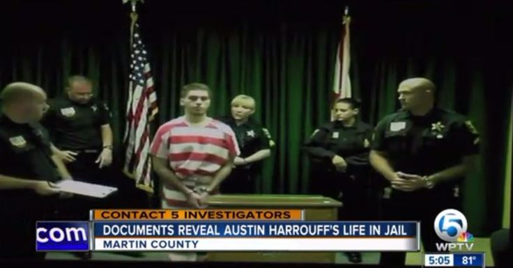 Austin Harrouff jail records reveal strange gifts; Harrouff on 'special status'