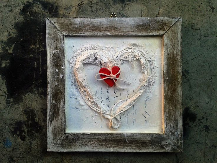 cuore 15x15 #heart #paint #art #bassorilievi #red