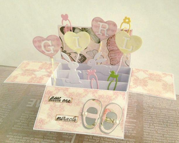 【送料無料】Box Card~BabyGirl~画像1