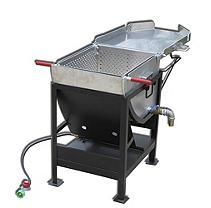 King Kooker #4545  Heavy Duty Outdoor Propane Jet Cooker with approximately 70 Qt. Aluminum Pot with Hinged Basket and