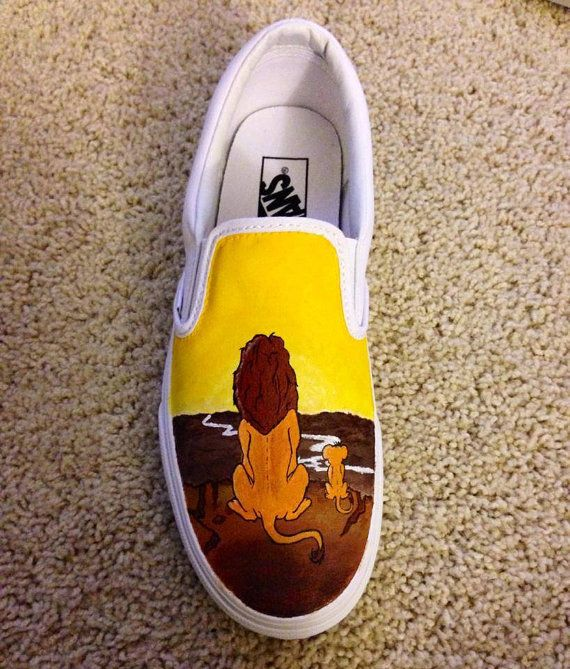 Disney Lion King hand painted Toms/Vans/Converse by ShoesBySmiley Mufasa and Simba