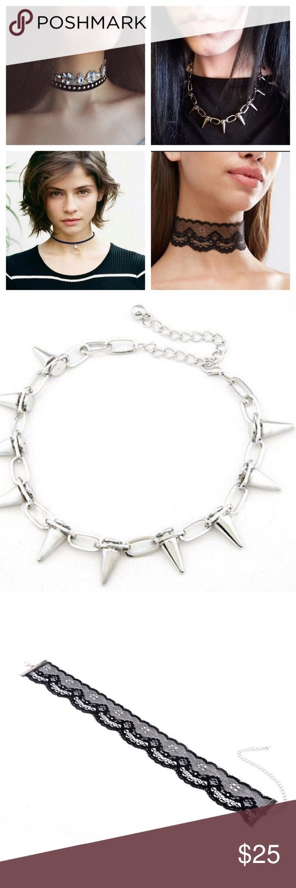 Trendy Bundle !! Hot !! Get all four chokers for the price listed! All trendy, sexy, and fashion ! Jewelry Necklaces