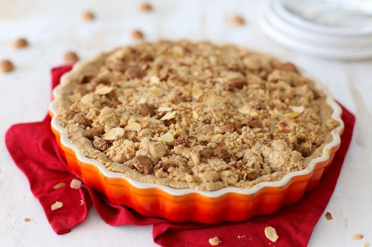 Sinterklaas appel-kruimeltaart