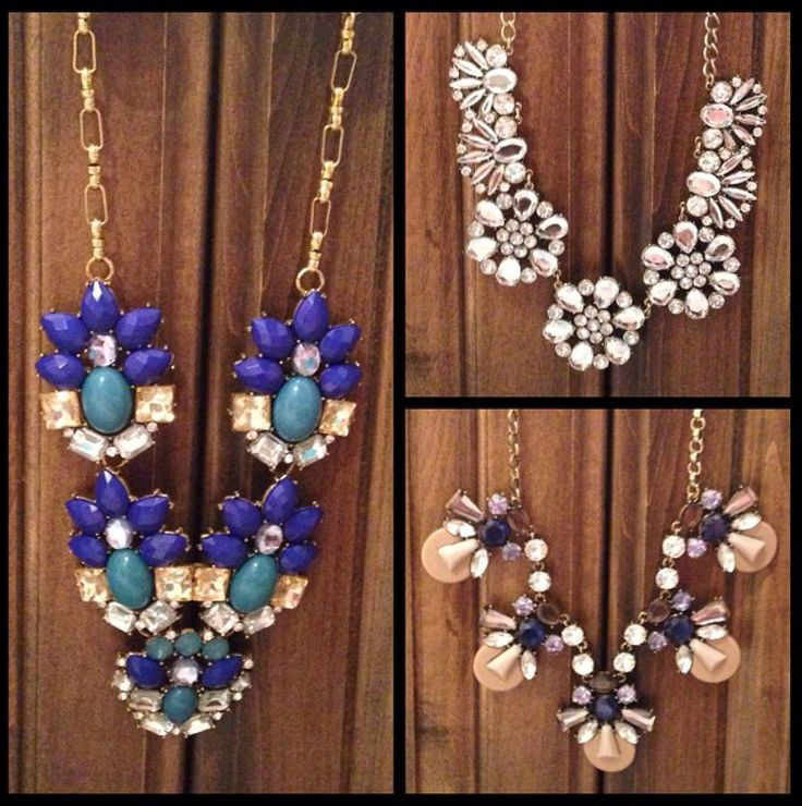 Just a few of the $10 statement necklaces available at Walmart!! They look great
