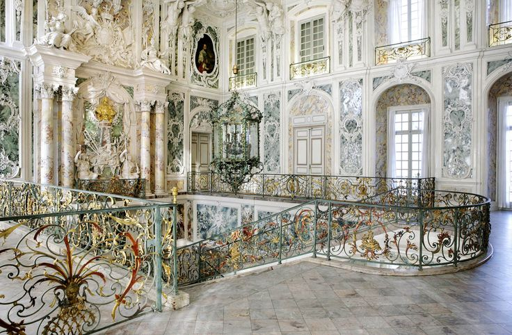 this charming Late Baroque/Rococo palace is famous for its magnificent staircase hall.