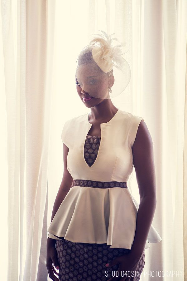 I love this modern take on a traditional sotho bride.