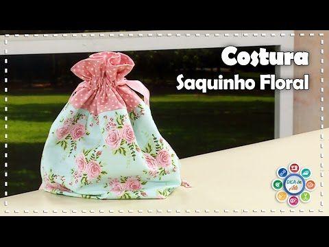 Descomplica! Aprenda a costurar saquinho organizador de tecido - YouTube