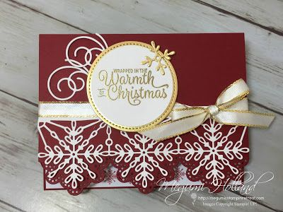 Megumi's Stampin Retreat: Swirly Snowflakes Christmas Card - Card Club