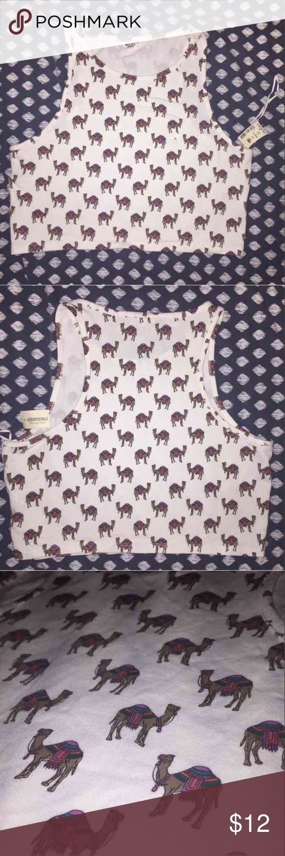 Camel crop top This shirt is brand new never been used . Excellent condition will come with tag . Originally cost me $28 Aeropostale Tops Crop Tops