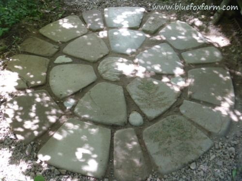 Soil Cement is a great way to make patio blocks that mesh perfectly with the surroundings -details at http://www.drought-smart-plants.com/soil-cement.html