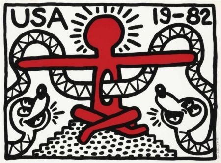 Lithographie - Keith Haring - USA 19-82