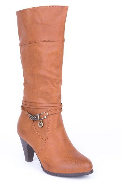 Calf Boots with Ankle Detail �24.99