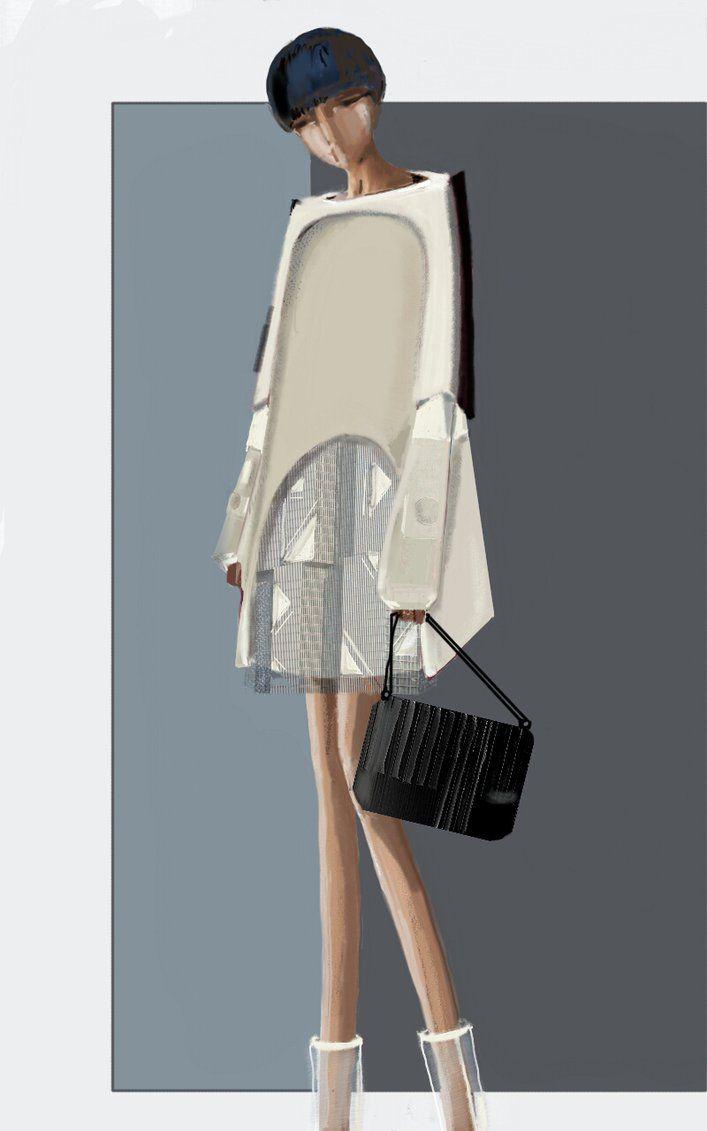 """Metropoli"" Sketch   Stefania Belmonte   my collection   Fashion Illustration"