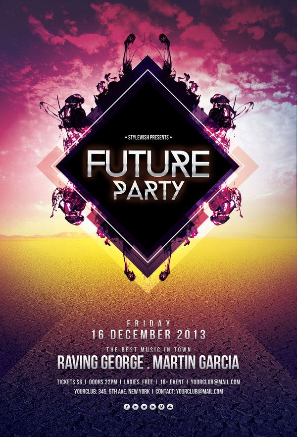 future party flyer by stylewish on graphicriver party poster