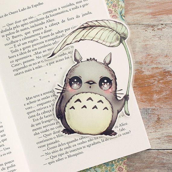 Inspired by Totoro  limited edition bookmark by ribonitachocolat