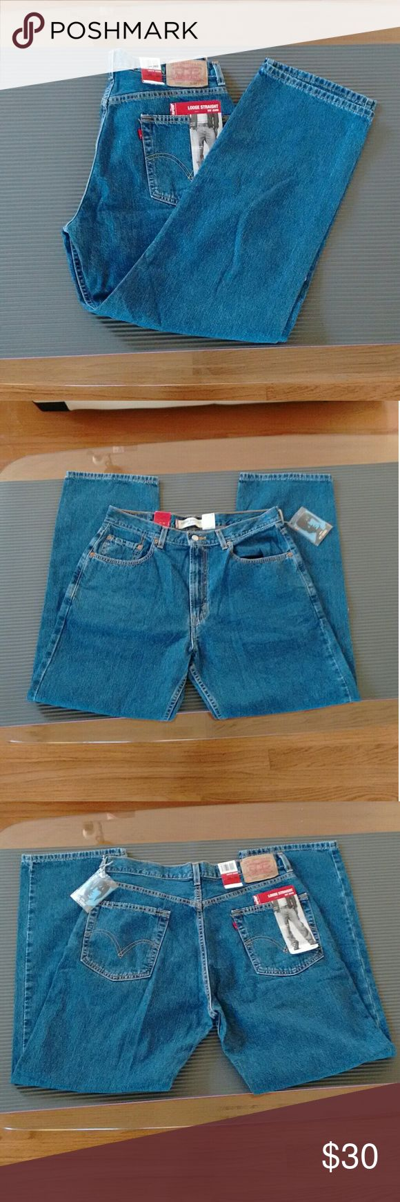 NWT Men's Levis 569 Loose Straight 34x32 Jeans Levi's 569, loose straight fit through seat and thigh, low rise jeans. 34x32. NWT (one tag is loose). Levi's Jeans Straight