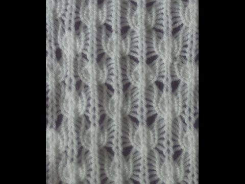 Knit Two, Purl Two Drop Lace by Diana Sullivan - YouTube