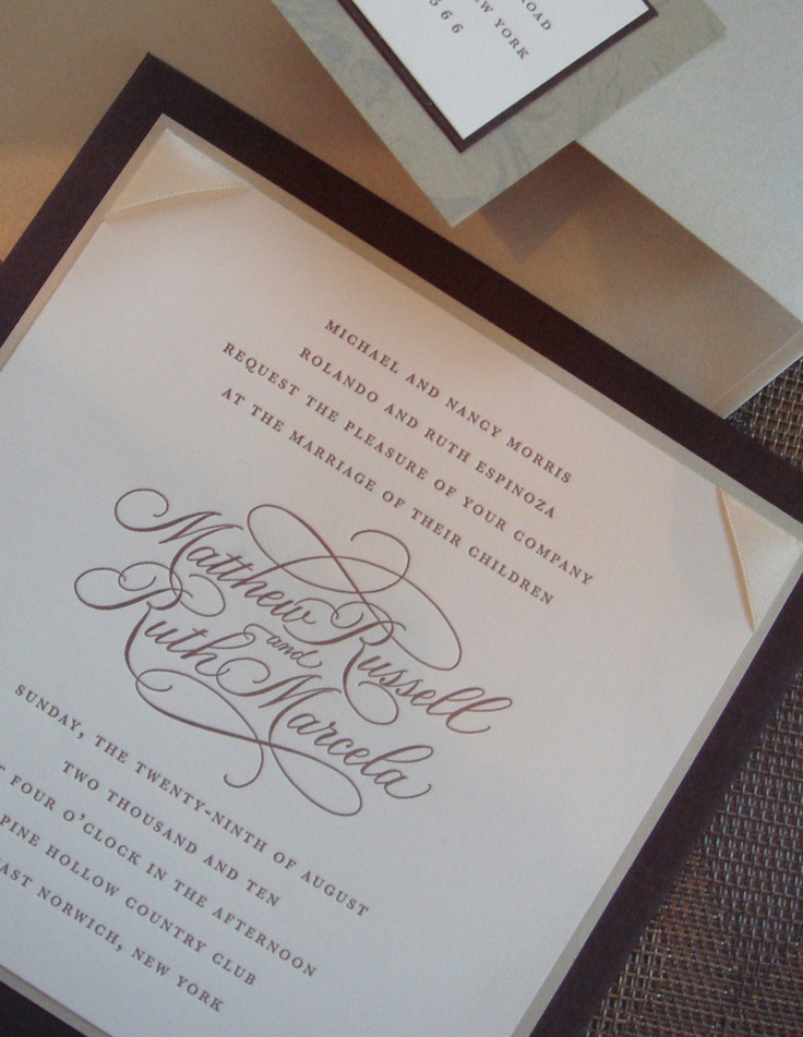 17 Best Images About Calligraphy Invitation On Pinterest