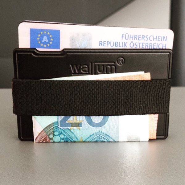 T1 Textile Card Holder Black. More: http://www.wallum.eu