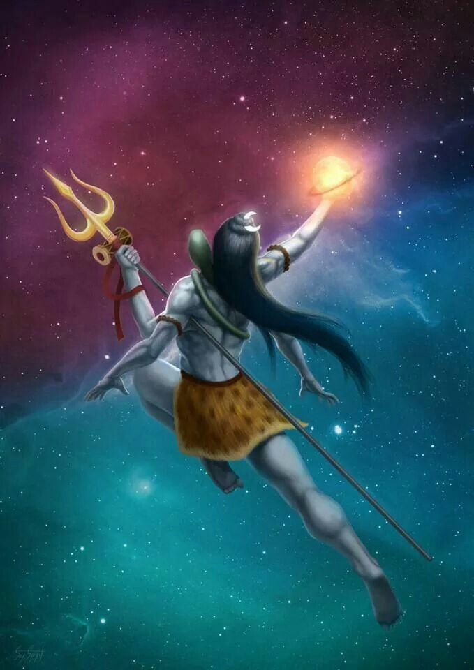 .Shiva glories in his creation - where there is dark, there must be light.