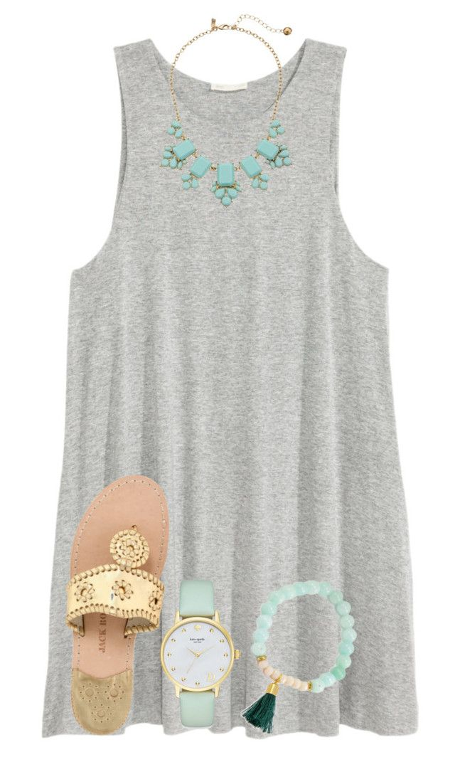 """""""{does any body know what these: { } are called}"""" by preppy-southern-girl-1-2-3 ❤ liked on Polyvore featuring H&M, Kate Spade and Jack Rogers"""