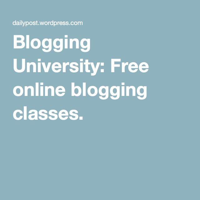 Blogging University: Free online blogging classes.