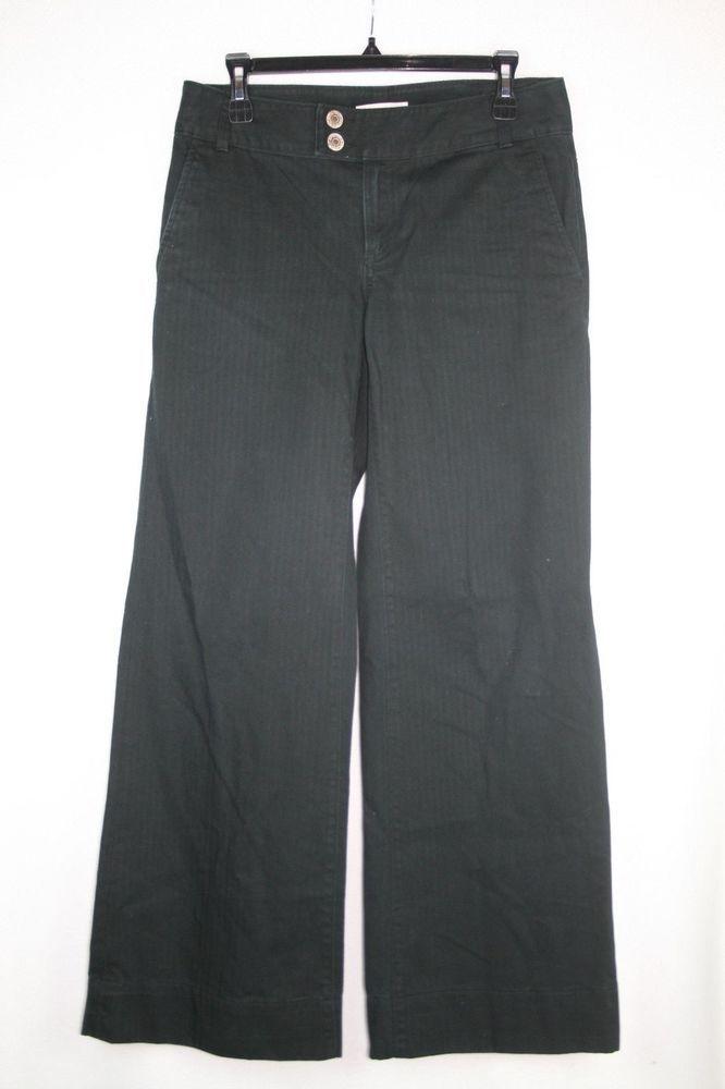Banana Republic Black Denim Jeans Tab Button Front Flap back pockets Sz 6 #BananaRepublic #jeans
