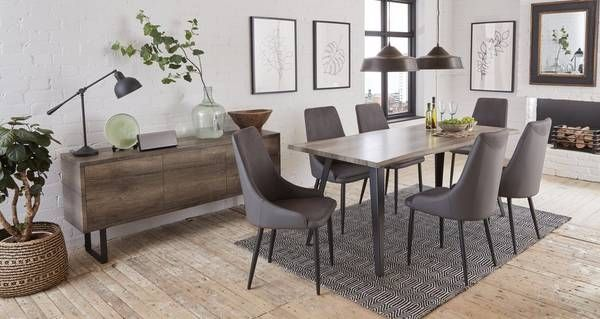 Rioja Fixed Dining Table Set Of 4 Chairs In 2020 Table