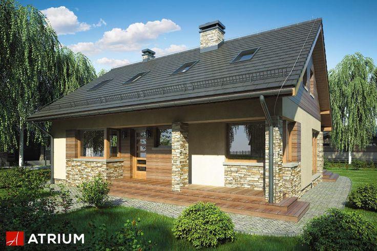 RICARDO VI – atutem jest tutaj prosta bryła przykryta 2-spadowym dachem oraz czytelny program parteru, zapewniający wysoki komfort użytkowania. Kamień i drewno na elewacji oraz duże przeszklenia pokoju dziennego nadają całości wyrafinowania.