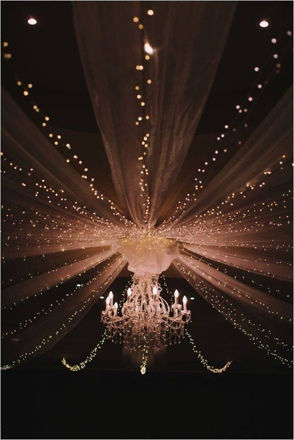 Beautiful Wedding canopy light ideas