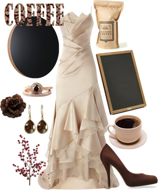 """""""Coffee Themed Wedding"""" by jwink88 on Polyvore"""