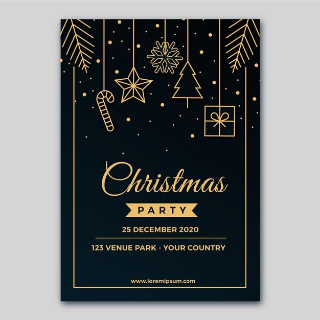 Christmas Party Poster Template In Outli Free Vector Freepik Freevector Freeposter Freec Christmas Party Poster Christmas Card Design Christmas Poster