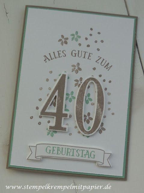 """Allerlei Geburtstagskarten mit dem Set """"So viele Jahre"""" und den Framelits Formen """"Große Zahlen"""""""