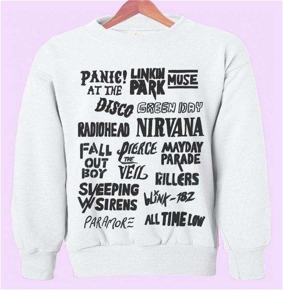 Alternative Rock Bands Crewneck/Sweatshirt on Etsy, $28.00...I need this in my life...!! I can't even !!