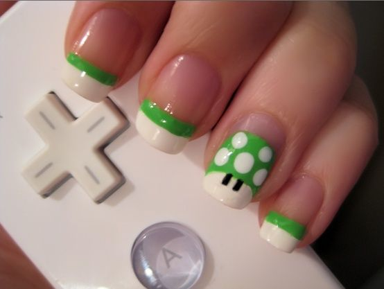 super mario nail art
