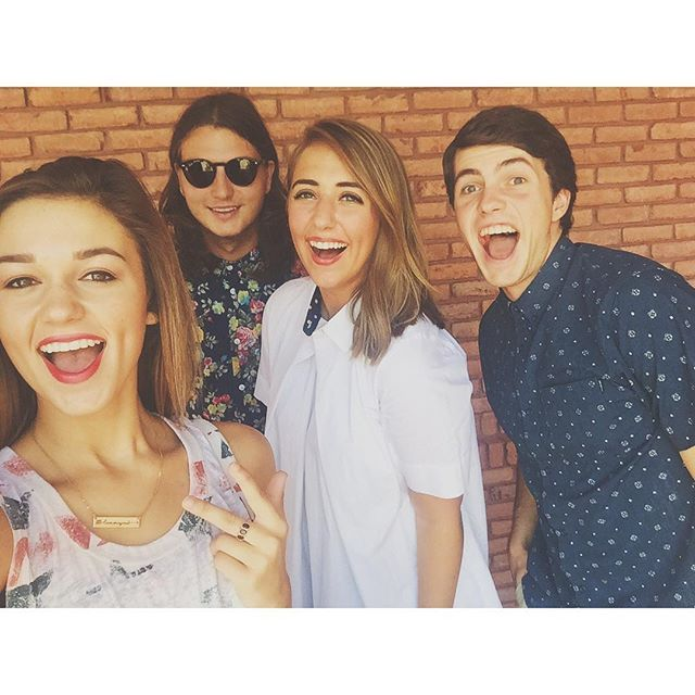 Sadie Robertson, Reed Robertson, Brighton Thompson, and Cole Robertson