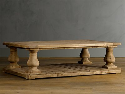 Balustrade Salvaged Wood Coffee Table From Restoration Hardware    Traditional Home Decor Furniture Piece. Try