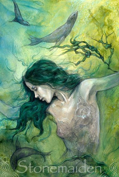 The Selkie's Return ~ ( Four Of Cups ) by Julia Jeffrey (Stonemaiden)