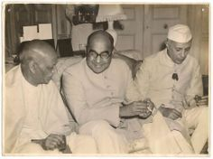 April 5, 1950: Sardar Vallabhbhai Patel (Indian Deputy Prime Minister), Liaquat Ali Khan (Prime Minister of Pakistan) and Jawahar Lal Nehru (Indian Prime Minister) during Liaqaut-Nehru Pact Talks