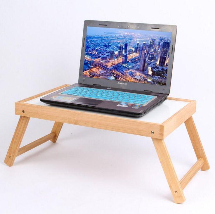 Baru kedatangan Portabel Lipat Adjustable Laptop Meja Komputer Meja Berdiri Tray Untuk Sofa Bed Hitam SE21