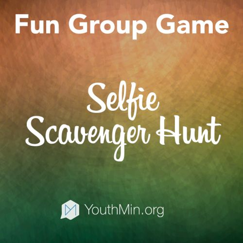 Instagram Selfie Scavenger Hunt Youth Ministry game - FREE this week!