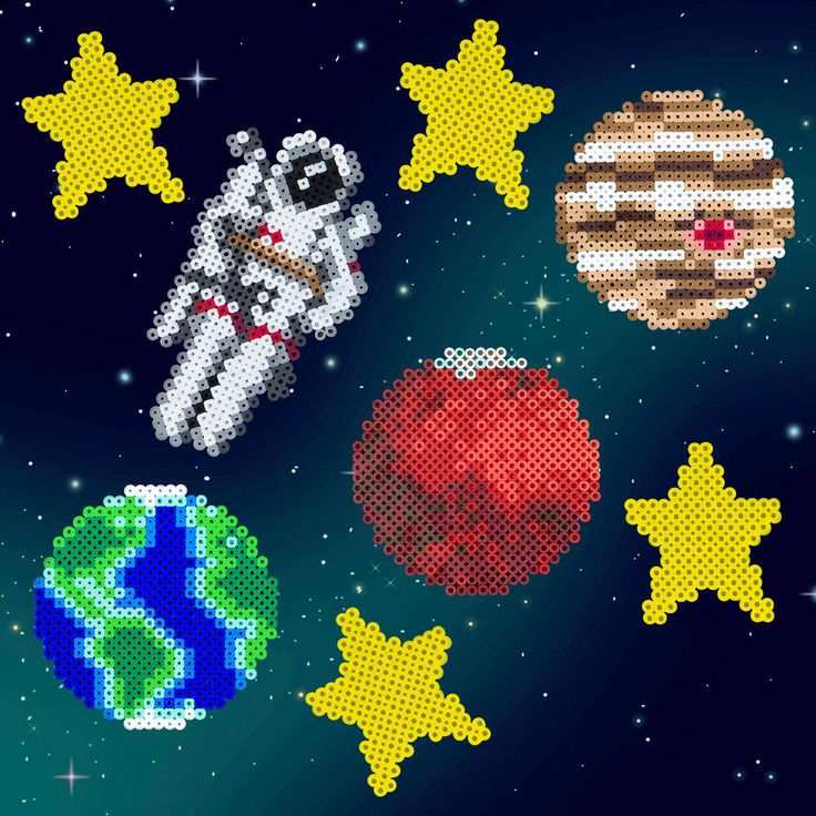 Shoot into space with Perler to see the stars and planets up close, or even take a space walk!