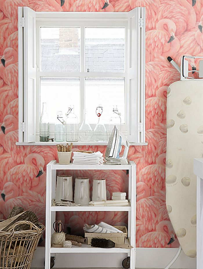 Ode to the Flamingo: I can't imagine a better laundry room