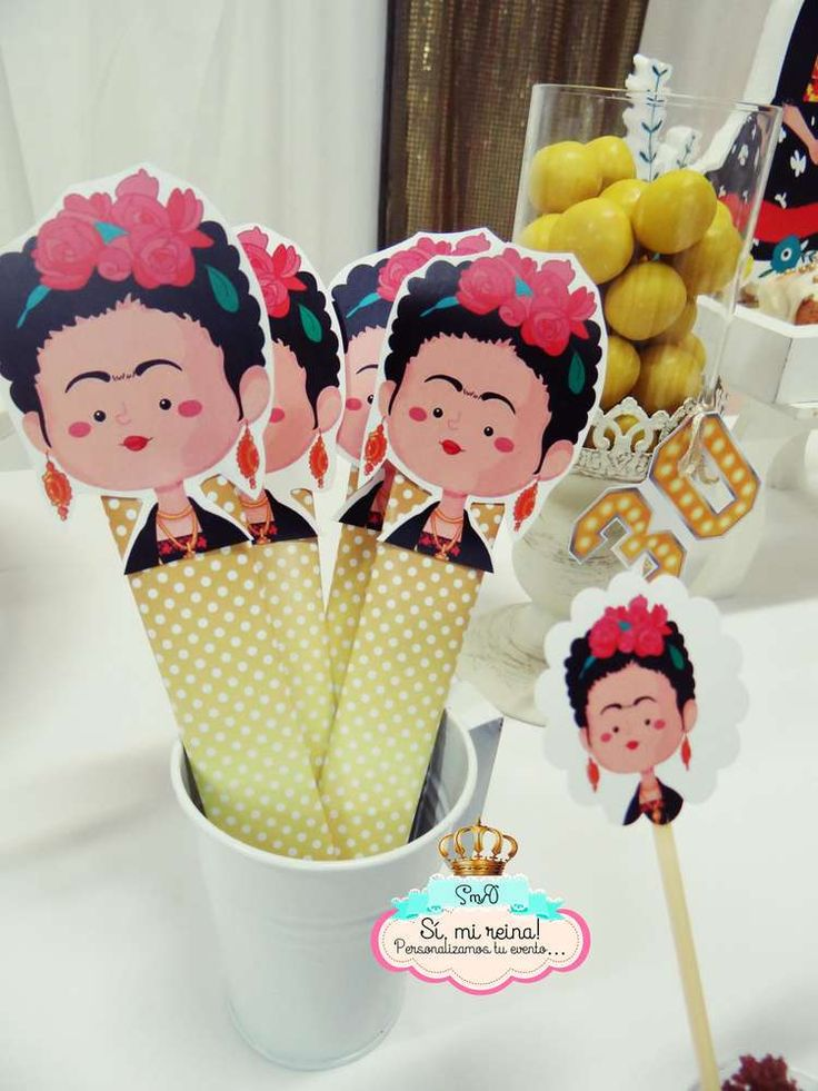 Frida Kahlo birthday party favors! See more party ideas at CatchMyParty.com!