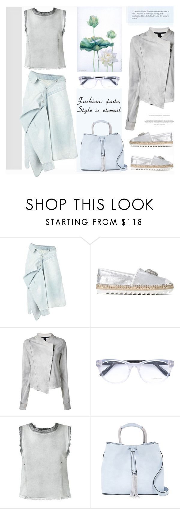 """Fading"" by snowbell ❤ liked on Polyvore featuring Faith Connexion, Philipp Plein, Thom Krom, Tom Ford, Golden Goose, French Connection and Eterna"