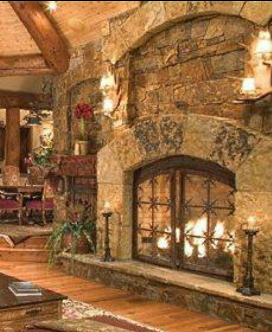 78 images about fireplaces on pinterest fireplaces the for Rustic rock fireplace designs