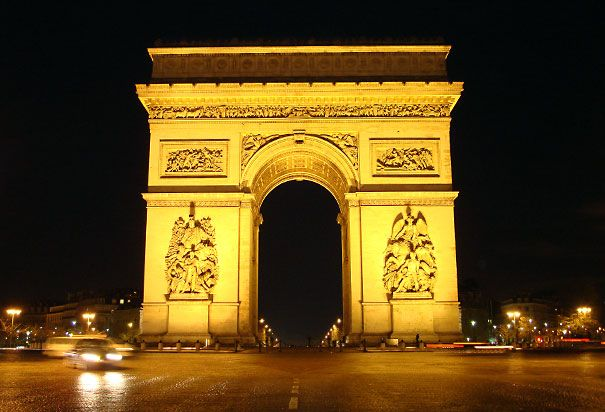 Arc de Triomphe - commissioned by Napoleaon in 1806 honoring those who died during the French Revolution and Napoleonic Wars.
