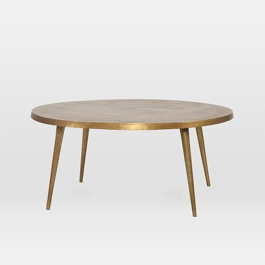 "Cast Coffee Table - Antique Brass  32"" diam. x 16""h.  $499"